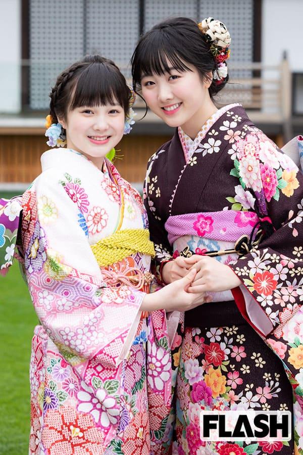 本田望結が妹・紗来と仲よく晴れ着を披露「夢は2人暮らし!」