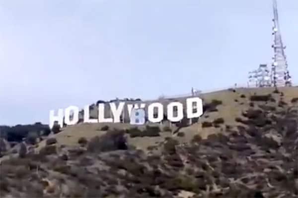 ハリウッド看板を「おっぱい」に書き換えて逮捕…準備はなんと100時間超