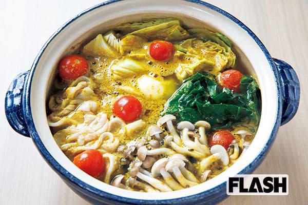ミスFLASHと味わう、美味しい「健康カレー鍋」
