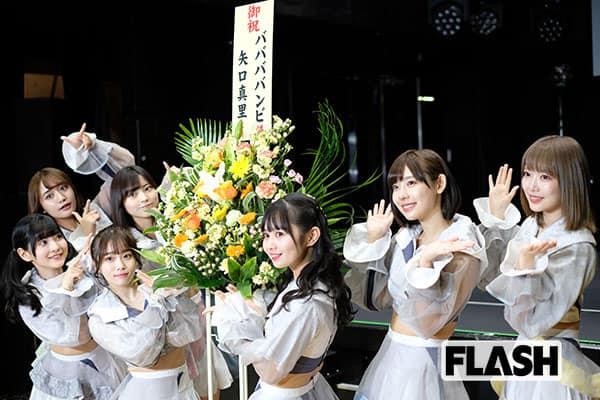 アイドルグループ「#ババババンビ」1年越しリベンジライブで矢口真里の花に感動