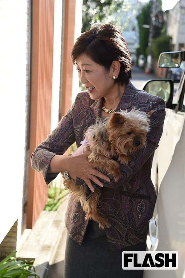 """小池知事襲った""""ペットロス""""…本誌に語っていた愛犬「そうちゃん」への思い"""