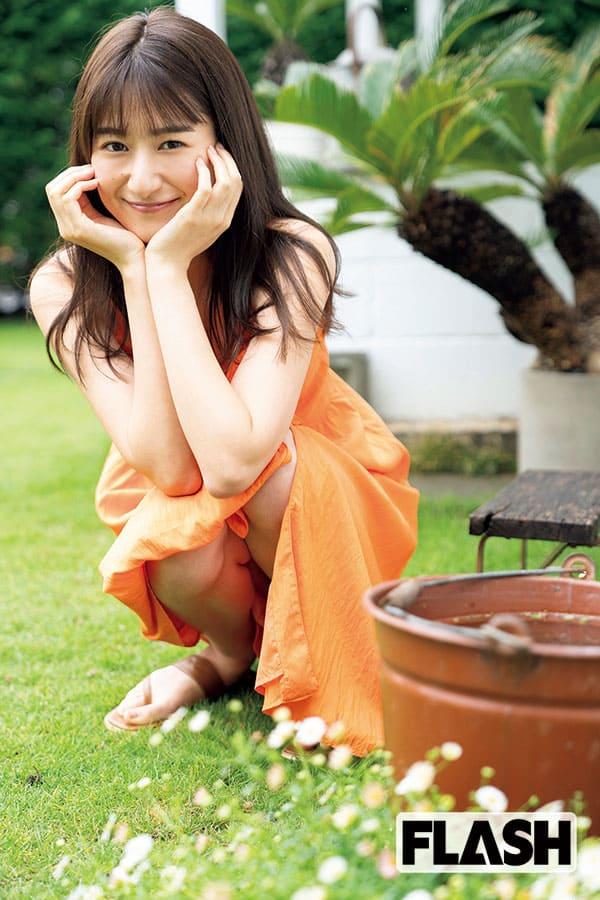 『素肌しずく』CM出演の濱田よりかがグラビアに初挑戦「いつかやってみたかった!」