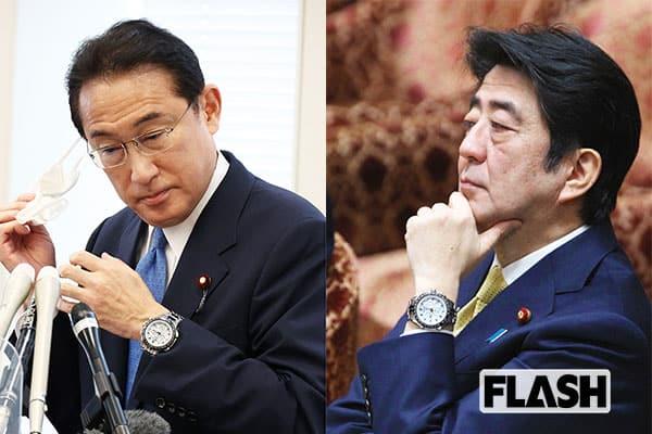 8月26日、総裁選への出馬表明をした際には、岸田氏の腕時計はデイトナからアストロンに変わっていた。これは2015年3月に安倍元首相が着けていたこのアストロンと同じモデルだ。